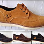 Качественные деми-туфли из замша