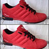 Кроссовки весна № 29 Adidas красный замш