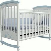 Детская кроватка Верес Соня ЛД2 бело-голубая 02.07