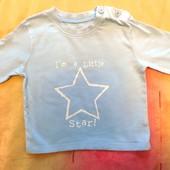 Супер модный реглан со звездой F&F 6-12 мес I'm a little star! как новый
