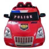Электромобиль детский, Bambi M 0607 R-3, радиоуправляемый, полиция, цвет, красный