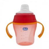 Чашка Chicco Soft Cup, для прогулок 6 м+ роз.