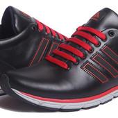 Кроссовки Adidas Black Red кожаные