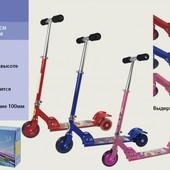 Самокат для деток  алюминий, 3 колеса PVC,артикул 15003