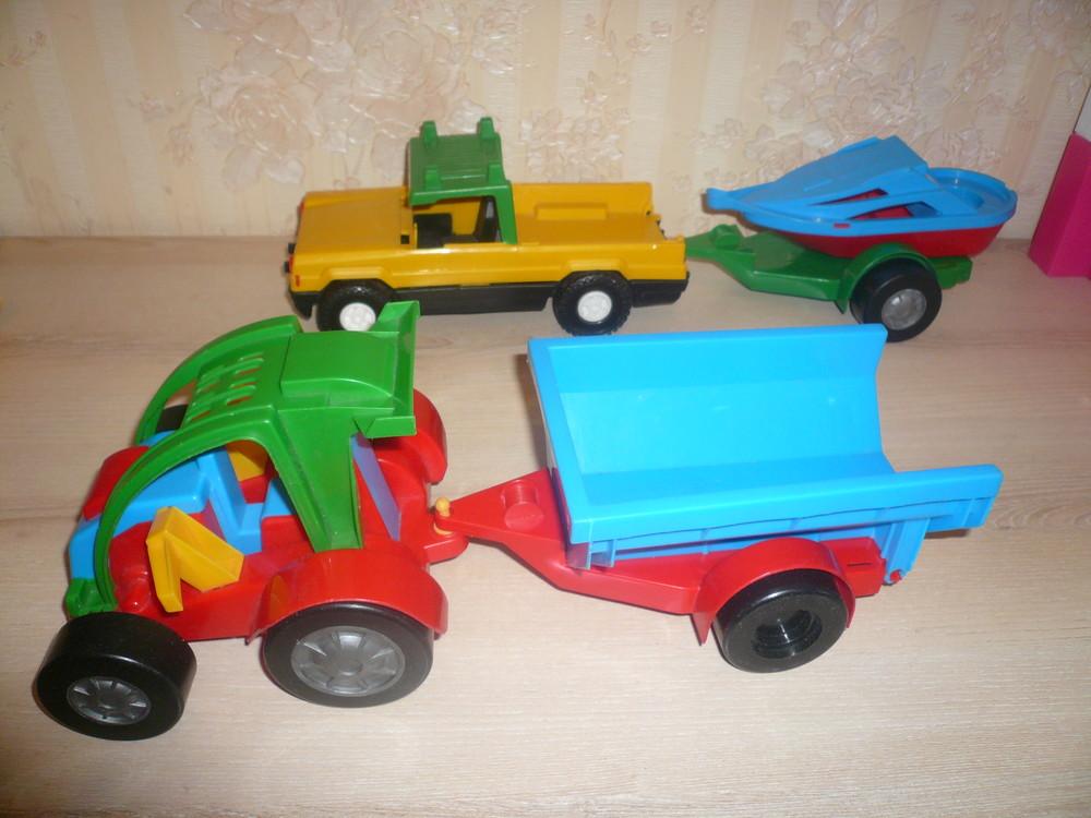 Трактор багги машина с прицепом 2 штуки вадер wader комплект фото №1
