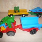 Трактор багги машина с прицепом 2 штуки Вадер Wader комплект