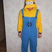 Despicable Me Миньйон слип пижама человечек флисовый тёплый рM-L