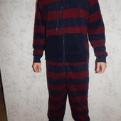 Easy слип пижама человечек флисовый с капюшоном мужской рXL