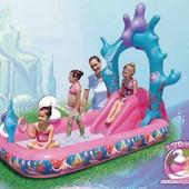 Надувной детский бассейн Bestway 91051, розовый, принцесса Ариель