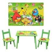 Столик детский, Angry Birds, Bambi D 11552, с двумя стульчиками