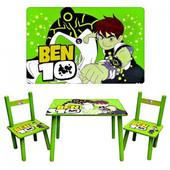 Столик детский, Bambi M 0489, Ben 10, с двумя стульчиками