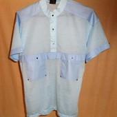 мужская голубая футболка тениска М