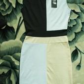 Новое летнее женское платье, размер 42-44, черно-желто-белое