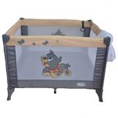 Манеж - кроватка , большая Mioo M100 Dog Tike, цвет Серый