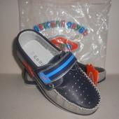 Туфли для мальчика р34-21,5см стелька ТМ EeBb на липучке