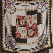 красивый платок в морском стиле 100% шёлк