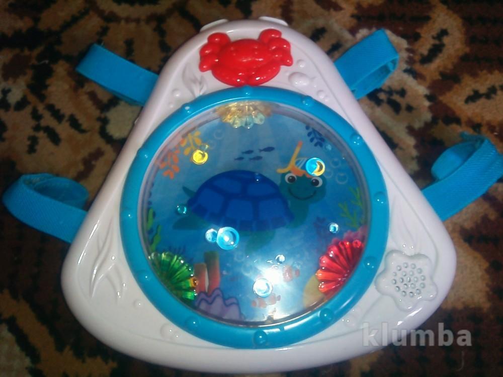 Интерактивная игрушка барабан для малышей на кроватку фото №1