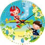 Часы в детскую комнату МДФ