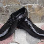 Туфли мужские. А-155-R. натуральная лакированная кожа