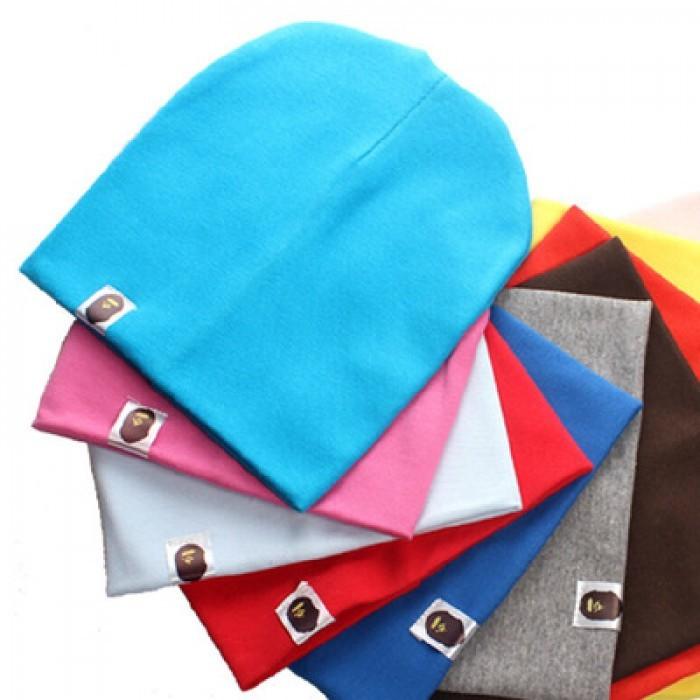 Варе, однотонные двухслойные шапки для девочек и мальчиков фото №1