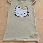 Золотистое платье Hello Kitty H&M 80р большемерит