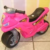 Мотоцикл для катання 501 2-х колісний яскр-рожевий BOC073962