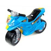 Мотоцикл для катания 2-х колесный желто-голубой BOC059209