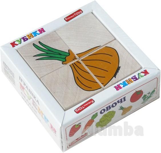 Кубики «сложи рисунок: овощи», komarovtoys артикул: т 607 фото №1