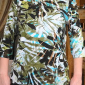 Блуза с тропическим принтом. Германия.