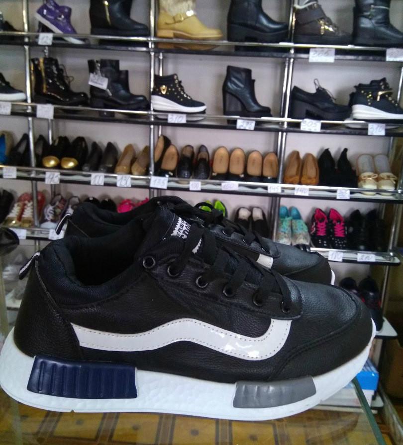 Чёрные мужские кроссовки. Распродажа фото №1