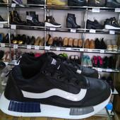Чёрные мужские кроссовки. Распродажа