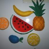 Овощи и фрукты магнитики