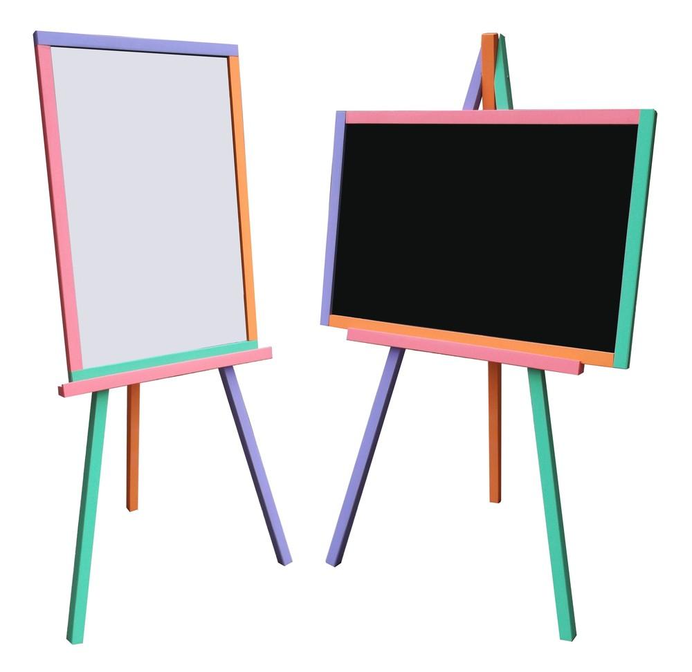 Детский мольберт для магнитов, маркеров, мела доска для рисования. с10 фото №1