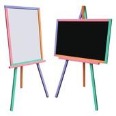 Детский Мольберт для магнитов, маркеров, мела Доска для рисования. С10