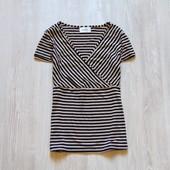 Стильная полосата футболочка для девушки. Wallis. Размер 10 (м). Состояние: новой вещи