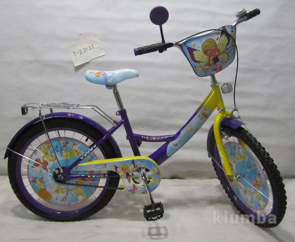 Велосипед tilly волшебница 20 t-22022 purple + yellow фото №1