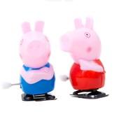 Заводные,  веселые игрушки свинка Пеппа и Джордж! Лот 1 шт.