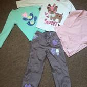 Пакет вещей для девочки 3-4 лет( 5 вещей); УП+11 грн