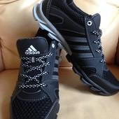 Скидка!Кожаные кроссовки adidas 39,40 ркожа+сетка