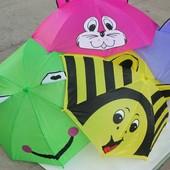 Детский зонт с ушками 6 видов