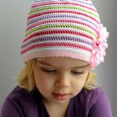 Шапка,шапочка для длевочки хлопок, ажур. 2-7 лет ( р.48-54).