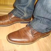 Фірмові шкіряні  стильні туфли AM Germany.43.
