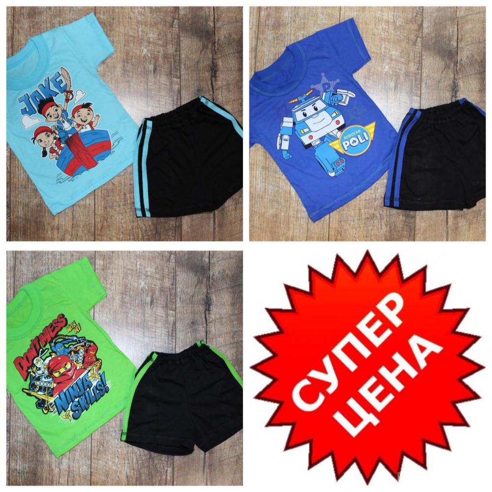 Костюмчики летние для деток на 80-116 см-цвета разные фото №6