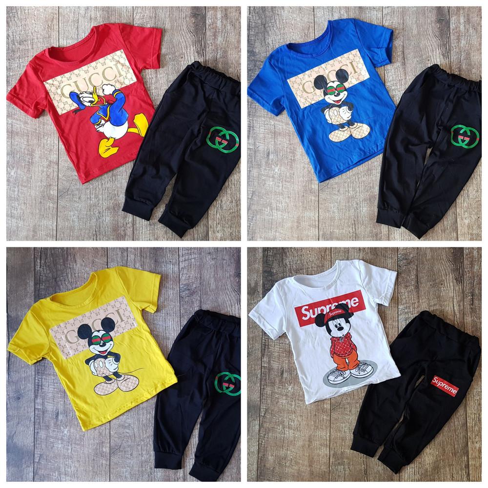 Костюмчики летние для деток на 80-116 см-цвета разные фото №16