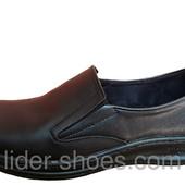 Мужские кожаные туфли Slip