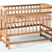 Кроватка детская деревянная на шарнирах бук Недорого