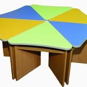 Детский стол Лепесток (делится на 6 столов). W15