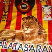 Фірмовий .Оригінал  банер флаг  прапор Ф.к Галатасарай.