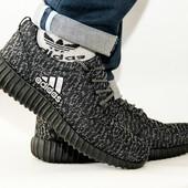 Мужские серые кеды Adidas  реплика
