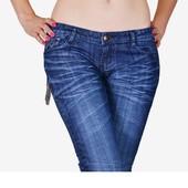 Новые женские джинсы с потертостями р. 28 (р. 46), супер цена!